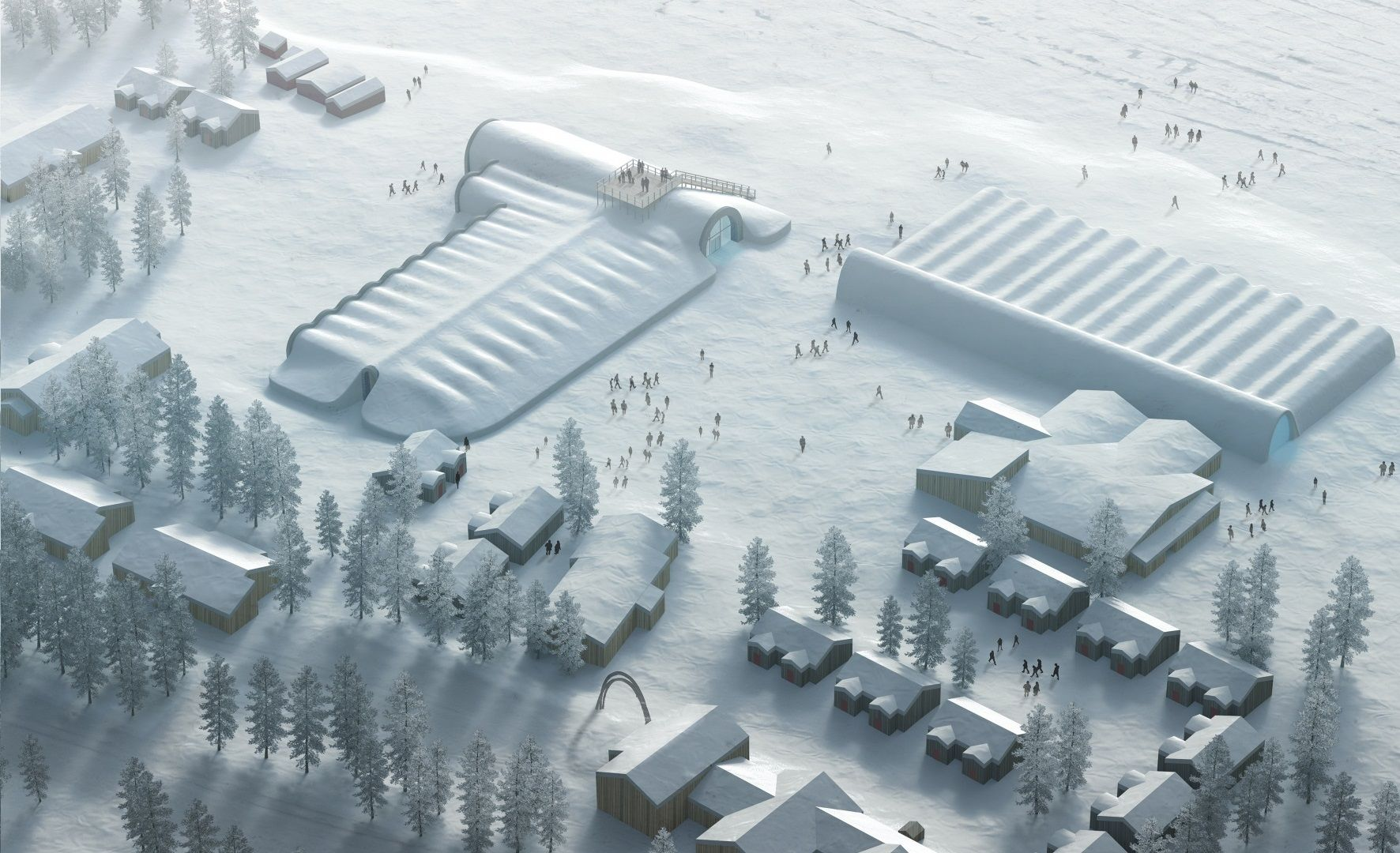 ICEHOTEL 365 Winter. Illustration by PinPin Studio22