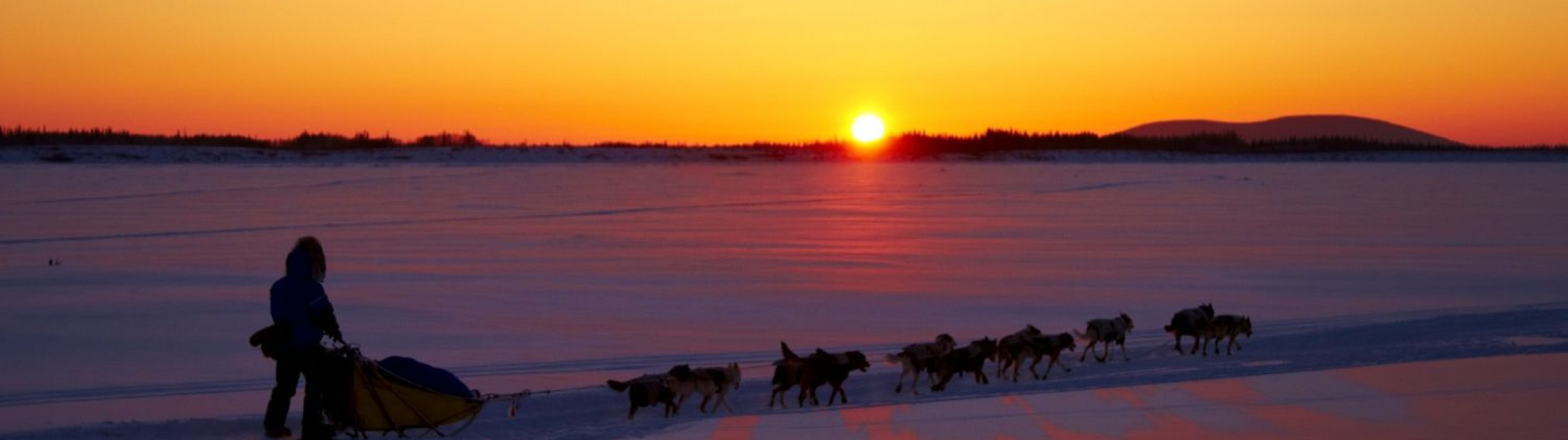 Iditarod Sunset Credit Chris McLennan/State of Alaska